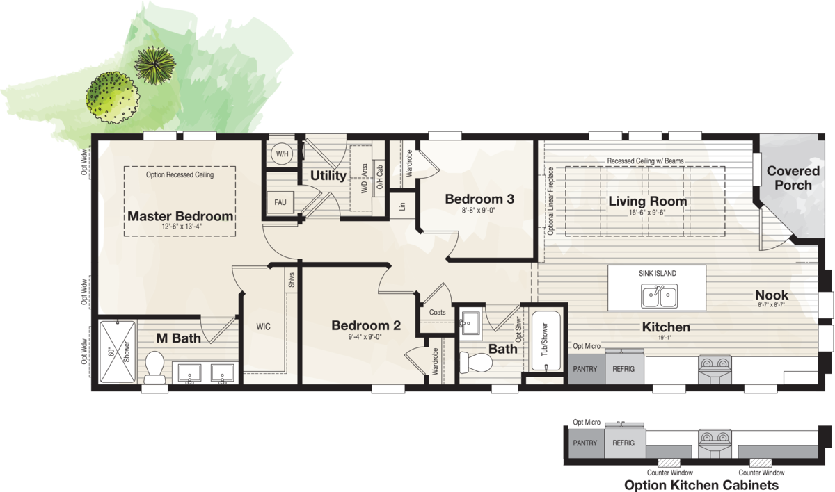 The CORONADO 2056B Floor Plan