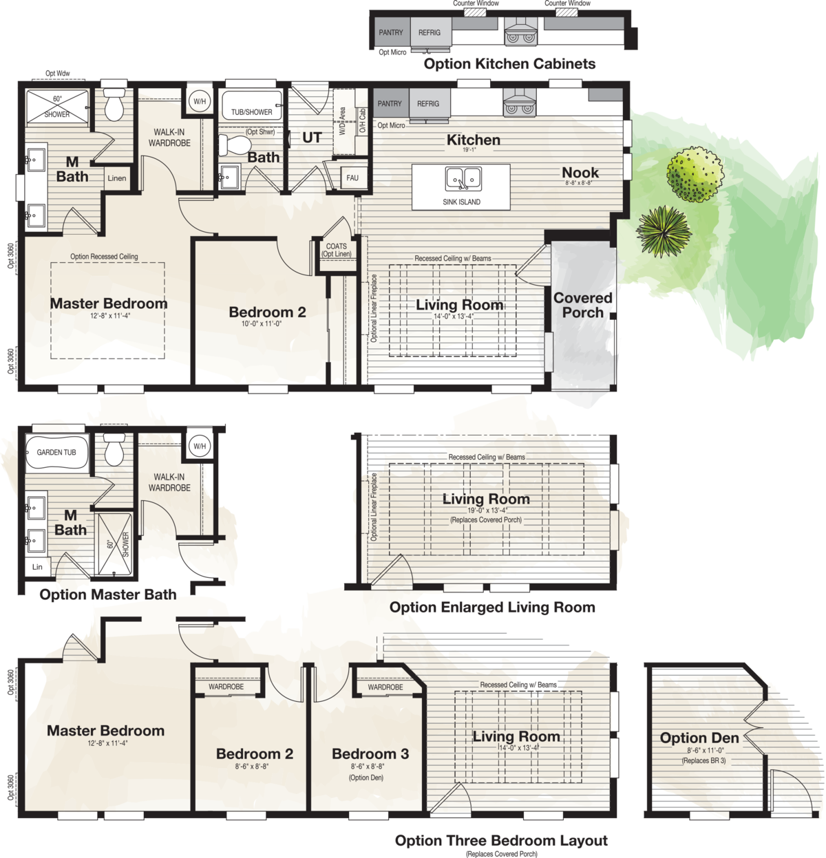 The CORONADO 2446B Floor Plan