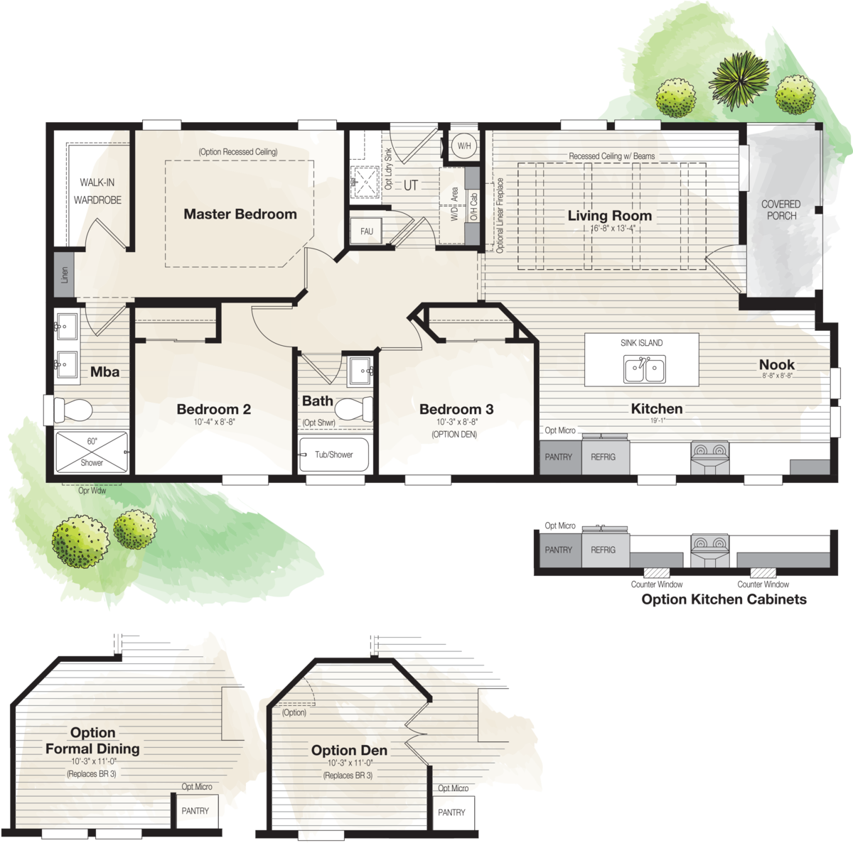 The CORONADO 2452B Floor Plan