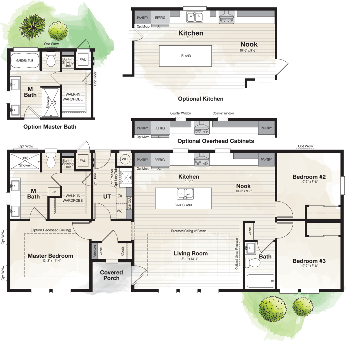The CORONADO 2456A Floor Plan