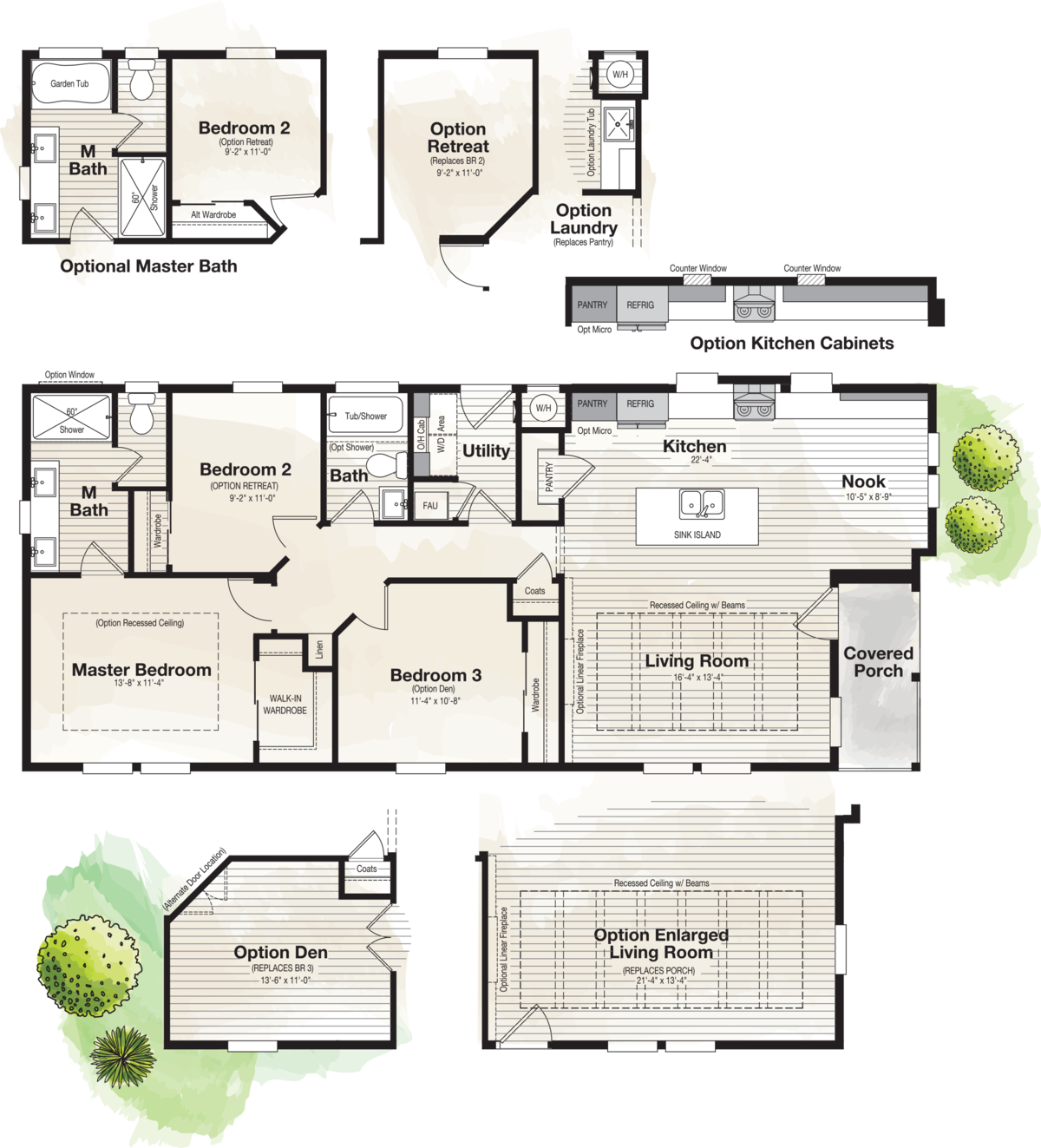 The CORONADO 2456B Floor Plan